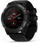 Garmin fēnix 5X Plus zegarek sportowy Czarny 240 x 240 piksele Bluetooth, SmartWatch Czarny, Czarny, Metal, Polimer, Wodoodporny, Szafirowe, 10 ATM, 240 x 240 piksele