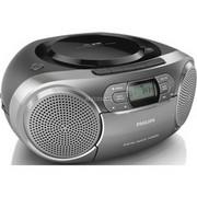 """Philips AZB600/12 przenośny system stereo Cyfrowy 2 W Szary, Odtwarzacz CD Ciemny srebrny, Cyfrowy, DAB,DAB+,FM, CD,CD-R,CD-RW, Fast backward, Szybkie przewijanie, Next, Poprzedni, Powtórz, Shuffle, 2 W, 7,62 cm (3"""")"""