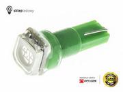 Żarówka Led W1,2W T5 R5 1x SMD5050 12V Zielony