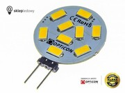 Żarówka G4 LED 1,5W 9x SMD 5630 10-30V DC 150lm Biały Ciepły 12V 24V Opticon Premium