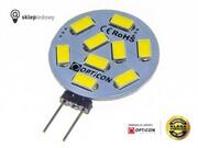 Żarówka G4 LED 1,5W 9x SMD 5630 10-30V DC 150lm Biały Dzienny 12V 24V Opticon Premium