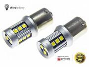 Hyundai i10 II - Światła do jazdy dziennej LED DRL P21W Ba15s OPTICON Standard - Zestaw 2 żarówki