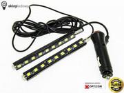 Zestaw oświetlenia kabiny LED 12V - Biały Zimny 6000K - 2szt