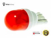 Żarówka Led W5W T10 2x SMD5630 12V Czerwony GLOBE