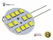 Żarówka G4 LED 2W 12x SMD 2835 10-30V DC Biały Zimny 6000K 12V 24V Opticon Premium