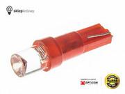 Żarówka 24V T5 R5 LED 1xDip Walcowa W1,2W W2W Czerwony