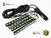 Zestaw oświetlenia kabiny LED 12V - Biały Zimny 6000K - 4szt