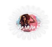 Indigo Wzornik owal przezroczysty Miami Collection Los Flamingos