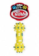 Pet Nova Hantel Z Wypustkami 12cm Kolor Żółty Pet Nova