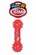 Pet Nova Hantel Z Wypustkami 26cm Czerwony Pet Nova