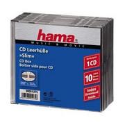 Opakowanie na cd/dvd HAMA Pudełka na płyty CD Slim Standard 10szt