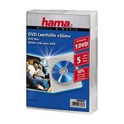 Opakowanie na cd/dvd HAMA Pudełka na płyty DVD Slim Box 5szt Przezroczyste