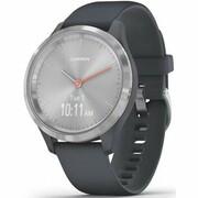 Produkt z outletu: Smartwatch GARMIN Vivomove 3S 39 mm Srebrna ramka ze stali nierdzewnej z granitowo-niebieską kopertą i silikonowym paskiem 010-02238-20 Media Markt