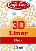 Konturówka 3D - 20ml (czarny) - Liner 3D (black)