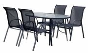 Hecht Meble Ogrodowe Ekonomy Set 4 Stół + 4 krzesła