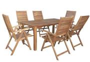 Hecht Meble Ogrodowe Leader Set Stół + 6 Krzeseł