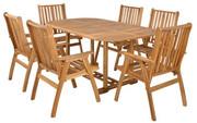 Hecht Meble Ogrodowe Rounded Set Stół + 6 Krzeseł