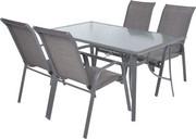 Hecht Meble Ogrodowe Sofia Set 4 Stół + 4 Krzesła