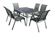Hecht Meble Ogrodowe Honey Set 6 Stół + 6 Krzeseł