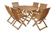 Hecht Meble Ogrodowe Basic Set 6 Stół + 6 Krzeseł