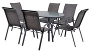 Hecht Meble Ogrodowe Ekonomy Set 6 Stół + 6 krzeseł