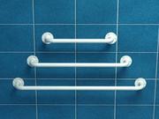 Poręcz prosta z atestem 40 cm fi 25 mm emaliowana biała