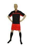 Komplet piłkarski Rhinos Argentina Junior - Czarno-Czerwony