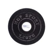 Talerz żeliwny, obciążenie 1,25 kg, Czarny - 1,25 kg