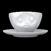Filiżanka do kawy porcelanowa CAŁUJĄCA BUŹKA - TASSEN - 58Products - T014201