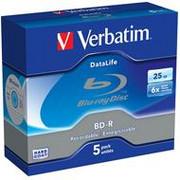 Verbatim BluRay BD-R | 25 GB | x6 | 5 szt.| SINGLE LAYER DATALIFE