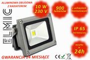 Naświetlacz LED COB XHF 10W 230V 120st. IP65 3500K Ciepła Biel ELMIC ELMIC
