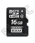 Karta pamięci microSDHC 16GB Class 4 + adapter SD R10 GOODRAM (TF Transflash) SDU16GHCAGRR10 GOODRAM
