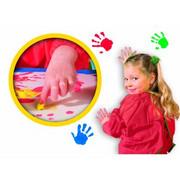 SES - Creative, farby do malowania palcami 6 x 50 ml