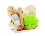 Zestaw SPA akcesoria do kąpieli i masażu Kwiat Lotosu