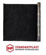 StP Dywan materiał wykładzina obiciowa szara z klejem z rolki 100cm