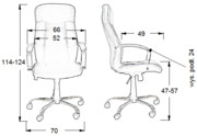 Fotel biurowy Sitplus ASTER