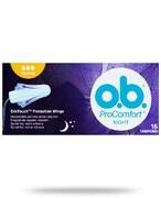 OB ProComfort Night Normal tampony higieniczne 16 sztuk REALIZACJA ZAMÓWIEŃ W 1 DZIEŃ ROBOCZY Johnson & Johnson