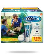 Corega Tabs Bio Formula tabletki do czyszczenia protez zębowych 24 sztuki + Corega Super Mocny krem do protez zębowych delikatnie miętowy 40 g [ZESTAW] GlaxoSmithKline