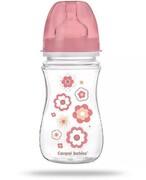 Canpol Babies EasyStart butelka szerokootworowa antykolkowa różowa 240 ml [35/217_pin] 1000