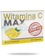 Alg Pharma witamina C Max 30 tabletek REALIZACJA ZAMÓWIEŃ W 1 DZIEŃ ROBOCZY ALG Pharma