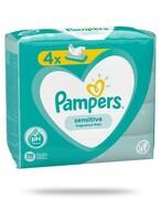 Pampers Sensitive chusteczki nawilżane dla niemowląt 4x 52 sztuki Procter & Gamble
