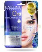 Eveline Q10 Ampułka Młodości Multi Action 8 w 1 przeciwzmarszczkowa koreańska maska na tkaninie 1 sztuka Eveline Cosmetics