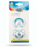 Canpol Babies zestaw smoczków silikonowych 6-18m turkusowy 2 sztuki [23/952_tur] Canpol