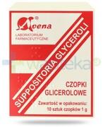 Avena czopki glicerolowe 1g 10 sztuk REALIZACJA ZAMÓWIEŃ W 1 DZIEŃ ROBOCZY Avena
