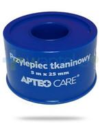 Przylepiec tkaninowy 5m x 25mm Apteo Care niebieski Apteo