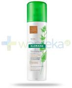 Klorane suchy szampon na bazie wyciągu z pokrzywy sebo-regulujący włosy ciemne 150 ml [Data ważności 30-09-2020] Klorane