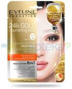 Eveline Złoty Eliksir Odżywczy Multi Action 8 w 1 intensywnie rewitalizująca koreańska maska na tkaninie 1 sztuka Eveline Cosmetics