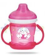 Canpol Babies Sweet fun kubek niekapek dla dzieci 9m+ różowy królik 180 ml [57/300] 1000