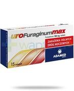 uroFuraginum Max 100mg leczenie zakażeń dróg moczowych 15 tabletek Adamed Grupa