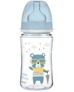 Canpol Babies EasyStart Bonjour Paris butelka szeroka antykolkowa niebieska 240 ml [35/232_blu] 1000